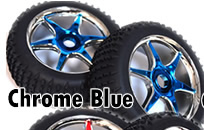 1/8th Buggy Wheels+Rims 2PCS (Chrome Blue)