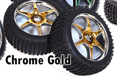 1/8th Buggy Wheels+Rims 2PCS (Chrome Gold)
