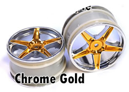 1/10 rear buggy rims 2pcs (chrome gold)