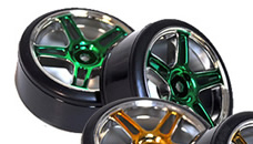 1/10th Drift Tires+Rims 2PCS (Green)