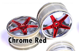 1/10 Rear Buggy Rims 2PCS (Chrome Red)
