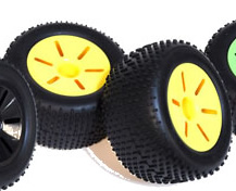 1/10 Truggy Wheel+Rim (2PCS Yellow)