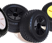 1/10 Truggy Wheel+Rim (2PCS Black)