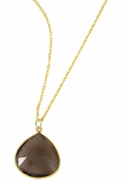 Charlene K Smoky Quartz Gemstone Pendant Necklace