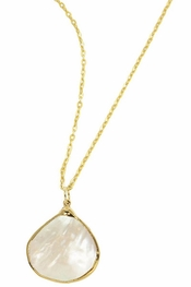 Charlene K Mother of Pearl Gemstone Pendant Necklace