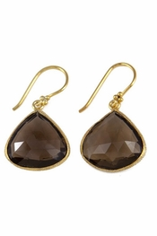 Charlene K Smoky Quartz Gemstone Earrings
