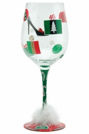 Lolita Shop-A-Holiday Wine Glass