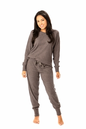 PJ Salvage Charcoal Ski Jammies