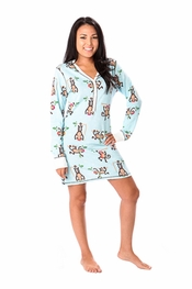 PJ Salvage Monkey Vintage Velour Nightshirt