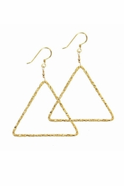 Charlene K Triangle Gold Earrings