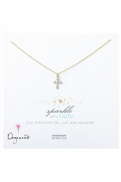 Dogeared Jewelry Sparkle With Faith Gothic Cross Necklace