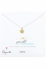 Dogeared Jewelry Sparkle With Happiness Groovy Flower Necklace
