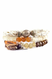 Chan Luu Red Aventurine Mix Stretch Bracelet Set