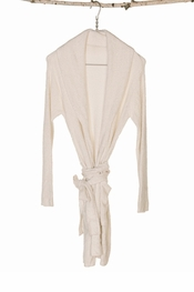 Barefoot Dreams Chic Lite Short Ribbed White Robe