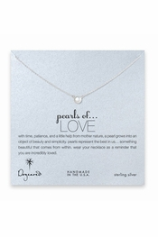 Dogeared Jewelry Pearls Of Love Sterling Silver Necklace