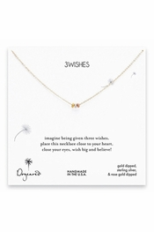 Dogeared Jewelry 3 Wishes Mixed Stardust Bead Necklace