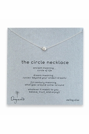 Dogeared Jewelry Circle Sterling Silver Necklace