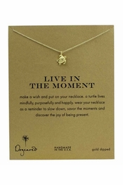 Dogeared Jewelry Live In The Moment Gold Sea Turtle Necklace