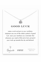 Dogeared Jewelry Good Luck Sterling Silver Necklace