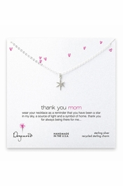 Dogeared Jewelry Thank You Mom Sterling Silver Necklace