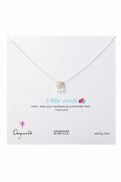 Dogeared Jewelry Three Little Words For Mom Sterling Silver Necklace