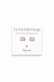 Dogeared Jewelry It's The Little Things Elephant Sterling Silver Earrings