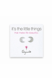 Dogeared Jewelry It's The Little Things Moon Sterling Silver Earrings