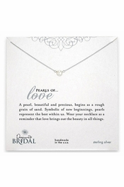 Dogeared Jewelry Bridal Pearls of Love Necklace