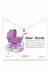 Dogeared Jewelry Gold Dipped New Mom Necklace With Mini Karma Ring
