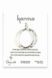 Dogeared Jewelry Small Karma Silver Dipped Textured Hoop Earrings