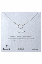 "Dogeared Jewelry Sterling Silver ""KARMA"" Necklace"
