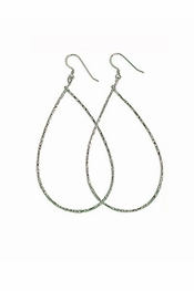 Charlene K Sterling Silver Teardrop Earrings