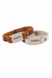 Dillon Rogers Faith Leather ID Bracelets