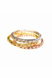 Charlene K Multi-tone Crystal Stackable Rings