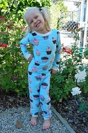 PJ Salvage Cupcake Crazy Vintage Velour Kids Pajamas