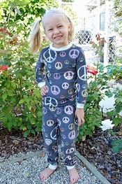 PJ Salvage Feel The Peace Vintage Velour Kids Pajamas