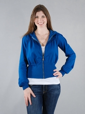 Ella Moss Bailey Blue Zipper Jacket