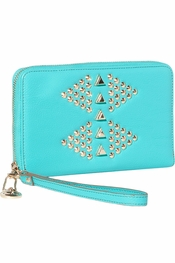 Big Buddha Heather Turquoise Wallet/Clutch