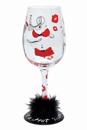 Lolita Hot Mama Wine Glass