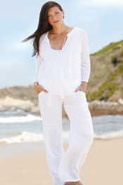 PJ Salvage White Tunic and Pant