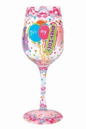 Lolita It's My Birthday Wine Glass
