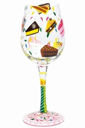 Lolita Birthday Cake Wine Glass