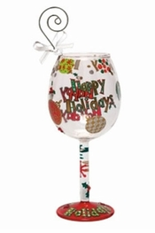 Lolita Happy Holidays Mini-Wine Ornament