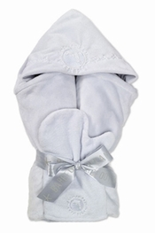 Barefoot Dreams Dolphin Blue Hooded Towel Set