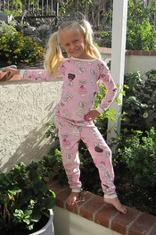 PJ Salvage KIDS Cupcake Choice Vintage Velour Pajama Set