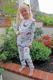 PJ Salvage Santa Paws KIDS Vintage Velour Pajama Set