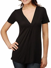 Ella Moss Ellassential Short Sleeve Black Top