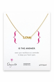 Dogeared Jewelry Love Gold Necklace