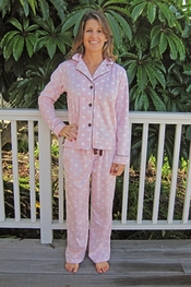 PJ Salvage Pink Dot Plush Polar Pajama Set