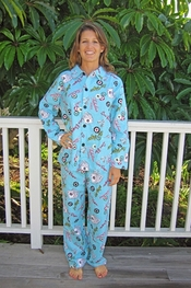 PJ Salvage Fabulous Casino Flannel Pajama Set